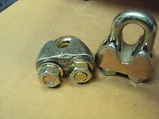 """6) 13mm 1/2"""" Wire Rope Cable Clamp  NEW wire clips"""