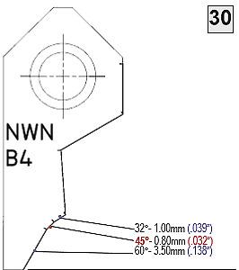 B4 45°-0.80mm Valve seat cutting insert bit tip,SERDI ROTTLER NEWEN SUNNEN
