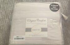 Elegant Comfort Softest Coziest 6-Piece Sheet Set 1500 Thread Count beige