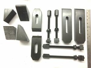 """24 Pc.Clamp kit M6 Thread For 3""""/80 mm &4""""/100 mm Rotary Milling Table & Machine"""