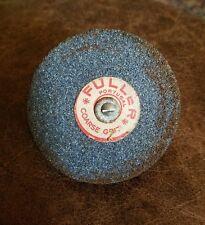 "Vintage FULLER Grinding Stone Wheel Portugal Coarse Grit - 3 Inch - 1/4"" Arbor"