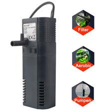 Mini Innenfilter Aquariumpumpe Aktivkohle box Filter Schwammfilter 300L/h 2W