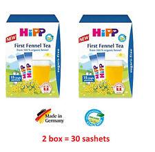 Hipp Baby 100% organic Fennel Tea x15 Healthy drink,Sugar-FREE, 2 box*15 sashets