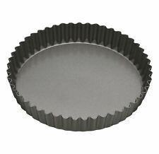 2x MasterClass Non-Stick 30cm Loose Base Fluted Quiche Tin