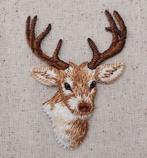 Whitetail Deer Buck/Head - 8 Point/Hunting - Iron on Applique/Embroidered Patch