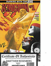 Kingpin #1 signed by Matthew Rosenberg Daredevil Netflix Nm