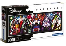 DISNEY VILLAINS Panorama 1000 pieces PUZZLE Cruella de Vil EVIL QUEEN Jafar