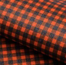 Red Black Buffalo Plaid Glitter Sheets, Faux Leather, A4 Vinyl Fabric Sheet