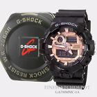 Authentic Casio Super Illuminator Black/Rose Ana-Digi Display Watch GA700MMC-1A