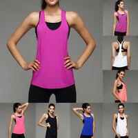 Women Sports-Running Fitness Exercise Jogging Gym Yoga Vest Tank Top Singlet Hot