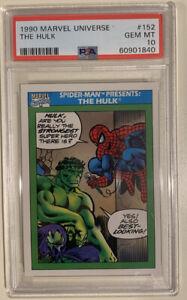 Marvel PSA 10 GEM MT - 1990 Marvel Universe Series 1 HULK & SPIDER-MAN