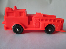 """1975 Imperial Crown Toys 4"""" Plastic Red Fire Engine Truck - Hong Kong"""