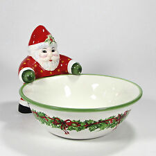 "Christopher Radko Holiday Celebrations 6.5"" Candy Bowl Santa Figurine Traditions"