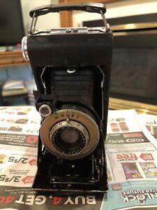 Vintage Kodak Vigilant Jr. Six-20 Series II 1937 Folding Camera #69171 W/ Case