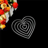 5Pc Love Heart Design Metal Cutting Die For DIY Scrapbooking Album Paper Card HU