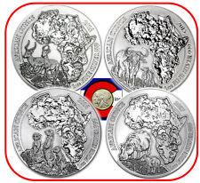 2014-2017 Rwanda Impala, Cape Buffalo, Meerkat & Hippo Silver Coin Set