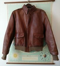 A2 leather flight bomber jacket willis & geiger eastman goodwear schott aero