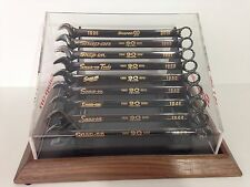 Snap On Tools 9pc Vintage 90th Anniversary Collectible Wrenches and Display Case