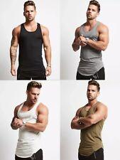 Mens Gym Training Vest Fitness Singlet Workout Muscle Bodybuilding Tank Tops