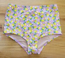 JCrew High-Waisted Bikini Bottom Lemon Print Swim H8259 $56 Lemon Multi L
