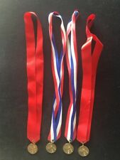 Lot Of 4 Basketball Participation 1.25� medals With ribbons