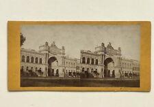 Paris Palais de l'Industrie Expo universelle 1855 Photo Stereo Vintage Albumine
