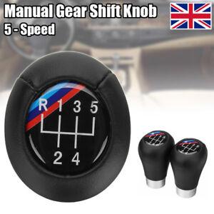 5 Speed Car Manual Stick Gear Shift Knob For BMW E34 E36 E39 E46 Black