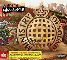 MINISTRY ANTHEMS HIP HOP III 3 - V/A Inc Eric B NWA Ice-T Nas 3CDs (NEW/SEALED)