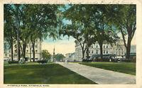 Postcard Pittsfield Park, Pittsfield, MA