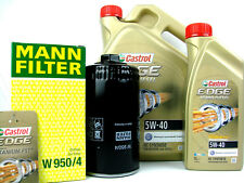 6 Litros Castrol Edge Turbo Diesel 5w-40 5w40 ACEITE + Filtro de MANN W950/4