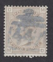 GB QV 1880/83 4d grey-brown pale 17 SG160 FU fine used bluish black cancel