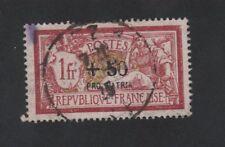 Pro Patria Croix-Rouge guerre timbre de France + 50 c sur 1 f Merson oblitéré