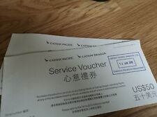 Cathay Pacific Service Vouchers $100 USD (Gift card)