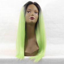 cheap fashion prom Women short Lace Front wig Wigs Neon Green Ombre black