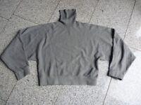 Pullover mit Rollkragen von ZARA Knit in grau weit geschnitten Gr. S