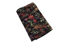 Indian king size flower print Kantha Quilt Reversible Bedspread Throw