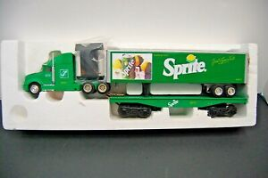 New In Box 1990 K-Line Sprite Heavy Hauler Tractor Trailer Coca Cola Die Cast