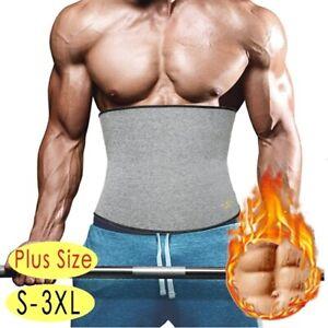 Men Sport Sweat Band Belt Body Shaper Slimming Waist Trainer Cincher Weight Loss