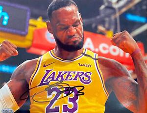 Lebron James Autographed Signed 8x10 photo Los Angeles Lakers NBA -- COA