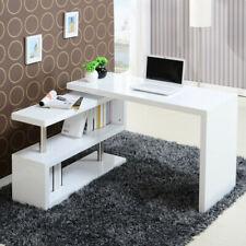 Eckschreibtisch Winkelkombination Schreibtisch Bürotisch mit Bücherregal &Rollen