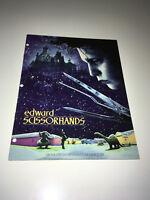 EDWARD SCISSORHANDS Vintage Movie Promo Pressbook Johnny Depp Tim Burton Fantasy