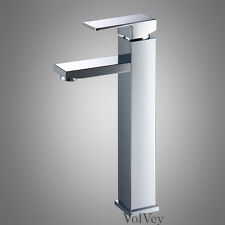 "11"" Chrome Bathroom Sink Faucet Modern Vessel One Hole/Handle Lavatory Mixer Tap"