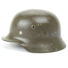 Original German WWII M40 Stahlhelm Steel Helmet- Shell Size 64, Maker Marked