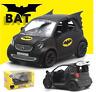 1:36 Model Alloy Batman Smart Fortwo Car Diecast Black Collection w/Sound&Light