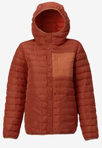 Burton Evergreen Hooded Down Insulator Ski Coat Womens Medium - 650 Fill Down