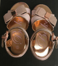 Baker by Ted Baker Girl' Light Gold Glitter And Pink Sandals toddler size uk 7