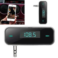 3.5MM IN AUTO AUDIO Trasmettitore FM per iPhone 5S IPOD SAMSUNG GALAXY MP3