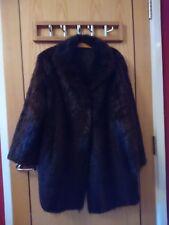 Vintage Genuine Real Fur Jacket Ladies Long Length Brown Stunning M/L