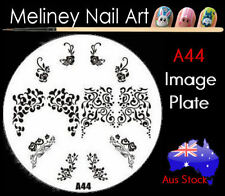 A44 Stamping Nail Art Image Plate Design Round XL Stencil metal