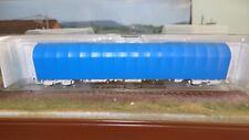 ROCO 67112 Carro telonato blu scorrevole a 4 assi tipo Rils delle MAV